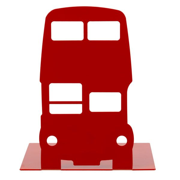 The red route master bus is a classic symbol of London life. This coated steel bookend would be a perfect gift for anyone who loves all things London.