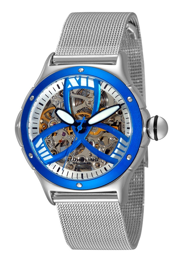 Price:$123.10 #watches Stuhrling Original 5ATM.121116, Stuhrling Original reinvents one of its most popular designs with a feminine edge. The Alpine Girl is constructed from surgical grade 316L stainless steel and features an exhibition case back which complements the skeletonized dial.