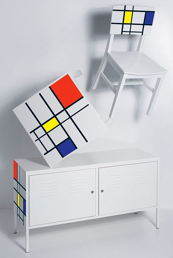 Piet Mondrian inspired furniture.