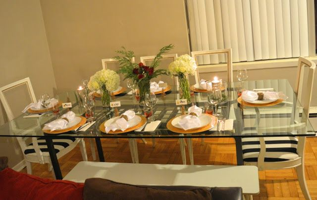 The AfroFusion Spot: Food: The Fancy Nancy Dinner Party,  table setting, table, dinnerware, home decor, interior design, black and white