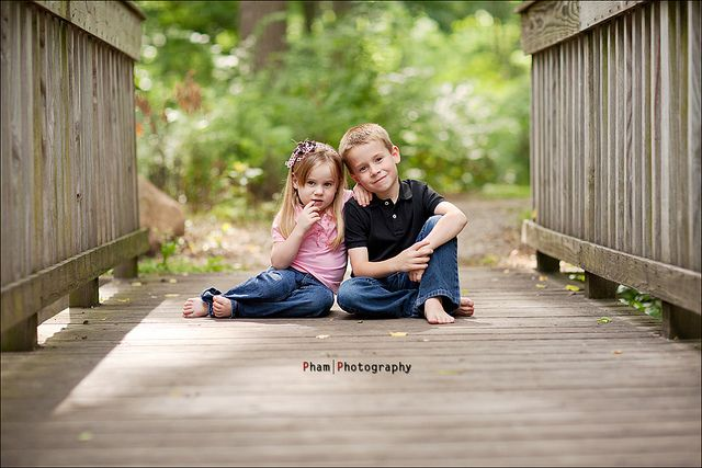 Brother and Sister...  by ~Phamster~, via Flickr....  I love bridges