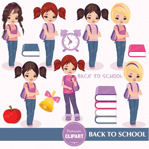 17 Best ideas about Back To School Clipart on Pinterest | Line art ...