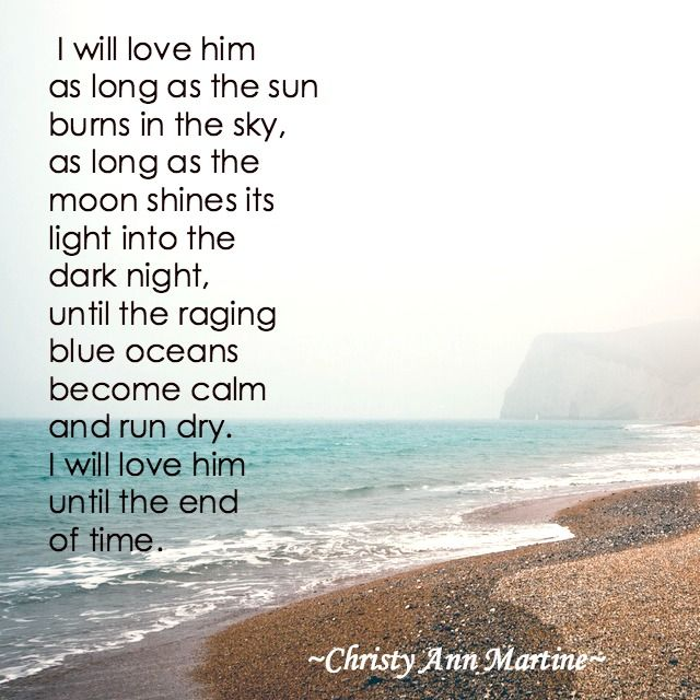 Until the End of Time poem by Christy Ann Martine - Love Poems for Boyfriend or Husband - Poetry
