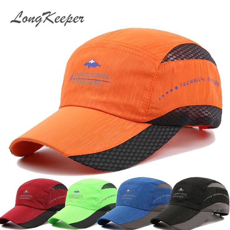 LongKeeper Mens Snapback Caps Outdoor Sport Caps for Men Women Quick Dry Sun Hats Bone Gorras Beisbol Chapeu 2016 New GU-14