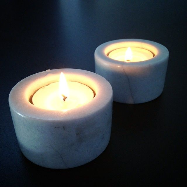 Marble tea light holders from Lagerhaus #2014 #marble