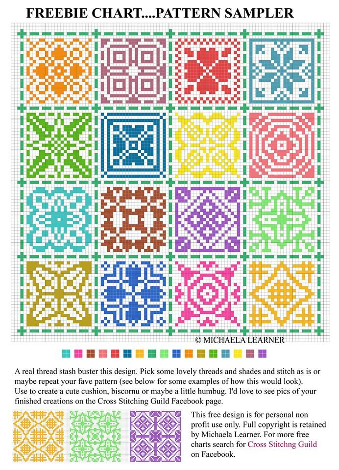 cross stitch pattern sampler