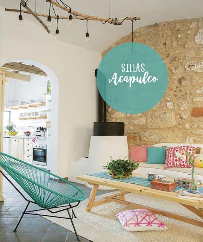 Sillas Acapulco, el mueble de los años 50 que vuelve en diferentes materiales y colores. Una pieza bonitista que seguro querrás tener en casa.