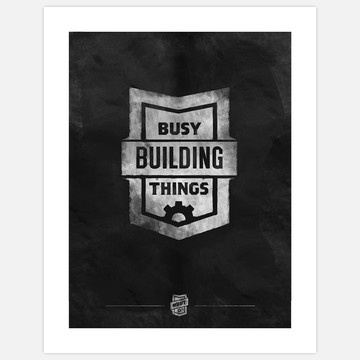 Busy Building Things Print White  - Busy Building Things: Design Products, Design Inspiration, Business Building, Building Clingprint, Building Things, Prints White, Things Prints, Clingprint Chalk, Things Chalk