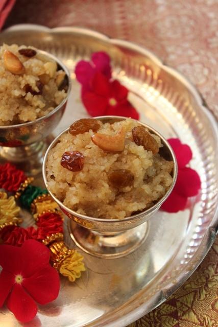 Cracked Wheat Halwa (Godhuma Rava Halwa)- Day 4