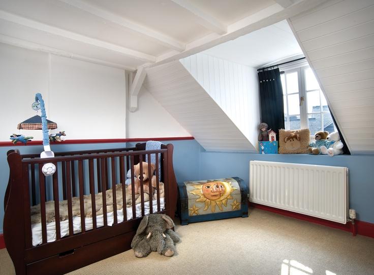 Awaiting arrival of child No 5.  #restoration #georgian #english #home #nursery #crib #children #beam #renovation #historic #littlehampton #arundel #westsussex #townhouse