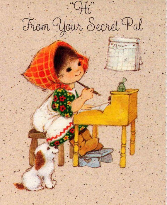 226 best secret sister secret santa images on pinterest beauty sweet vintage secret pal small note cards from hallmark negle Gallery