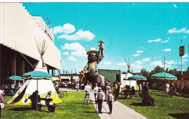 Vintage Edmonton Klondike Mike icon for Klondike Days back then now today KDays