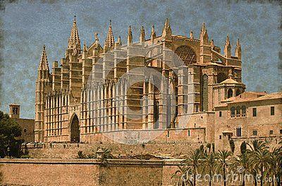 Palma de Mallorca cathedral - Vintage