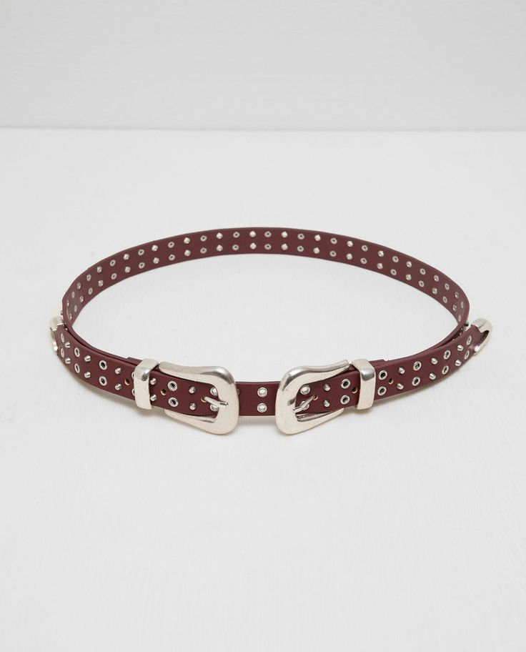 ZARA - WOMAN - DOUBLE BUCKLED AND STUDDED BELT