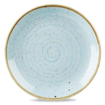 Churchill Super Vitrified Stonecast Coupe Plate - Duck Egg Blue
