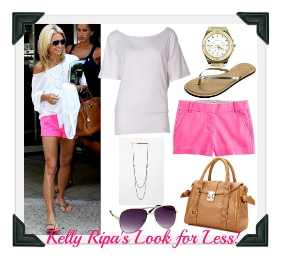 Cute Summer Outfits with Shorts | Celebrity Copycat: Kelly Ripa's Look for Less!