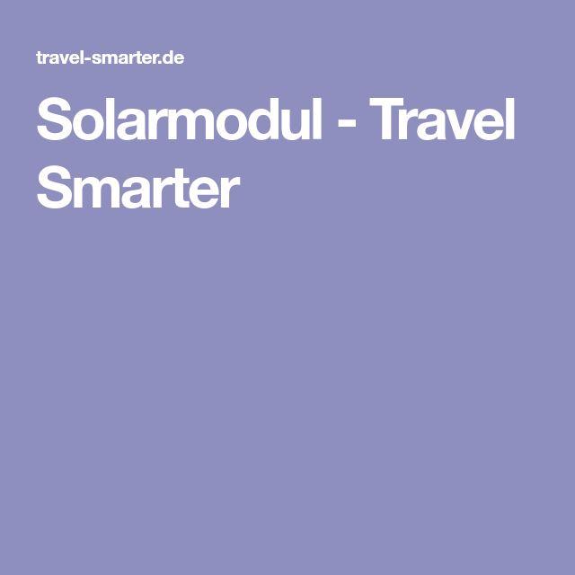 Solarmodul - Travel Smarter