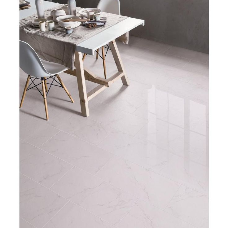 Carrara Polished Porcelain Tile - 12in. x 24in. - 912500311   Floor and Decor