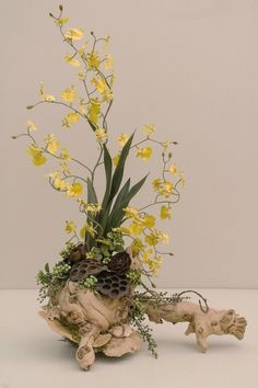 Forest Inspired Oncidium Orchid by HoffmansForestGarden on Etsy, $92.50