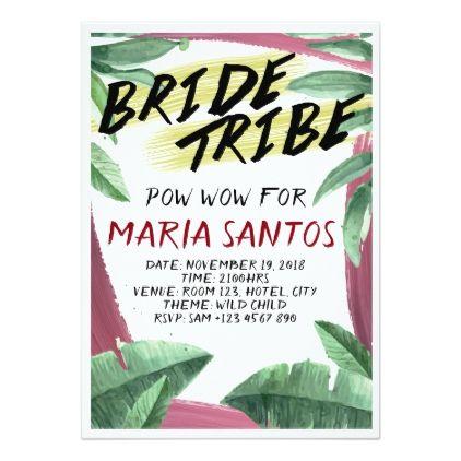 Wild Tropical Themed Bridal Shower Invitation - bridal shower gifts ideas wedding bride
