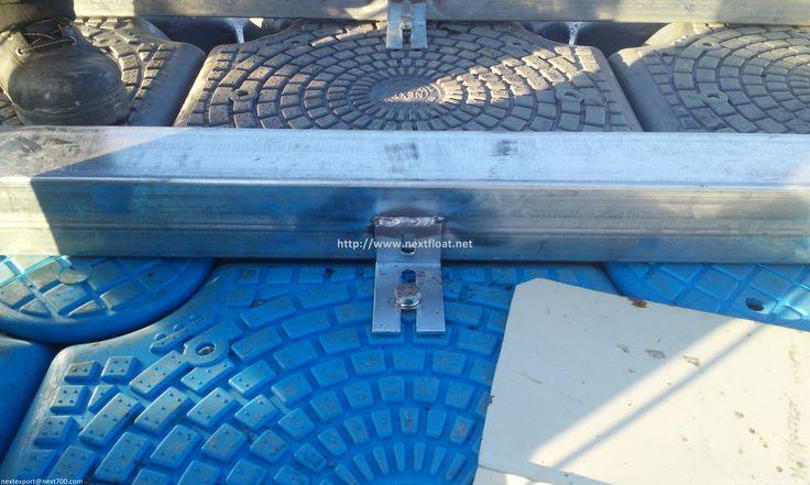 Frame assembly on DECKON float. (Patented)