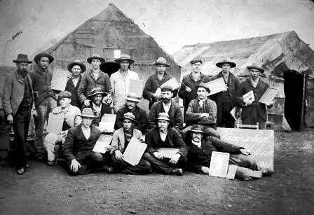 Boer Prisoners in their camp [Saint Helena Island Info:Boer Prisoners (1900-1902)]