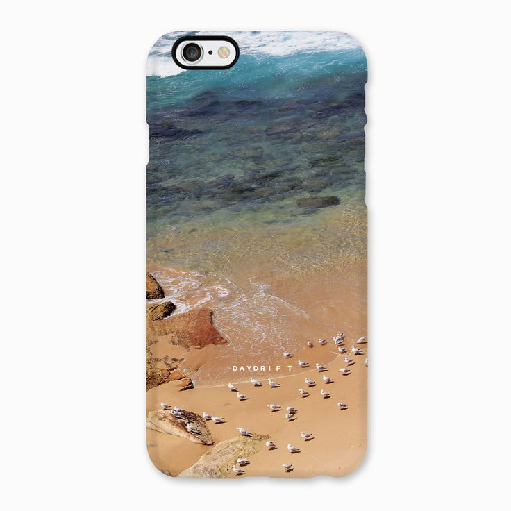 Limited edition luxury iPhone 5 and iPhone 6 Phone Cases featuring a Daydrift photograph of seagulls on the shore at Bondi Beach Sydney Australia