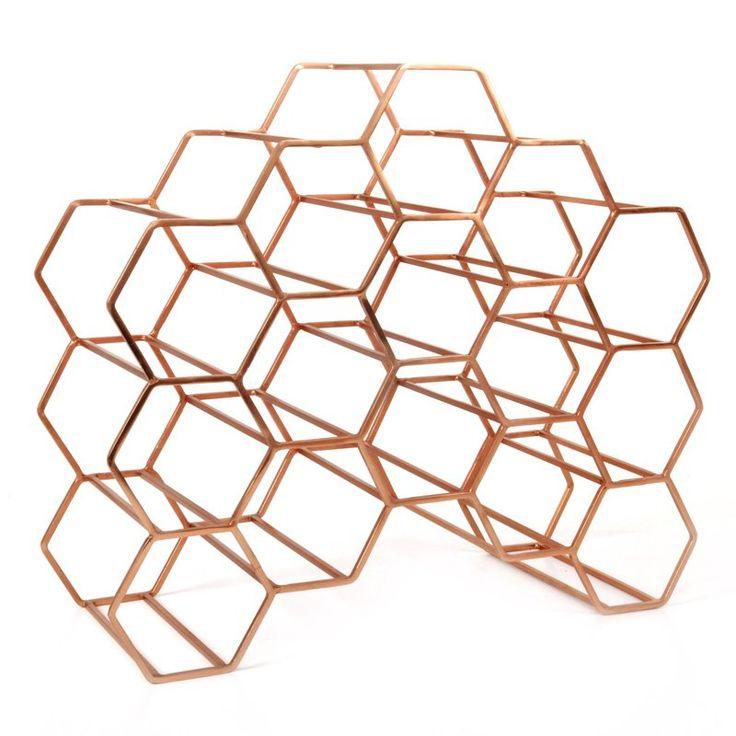 Pico 15 Stackable Wine Rack - Copper