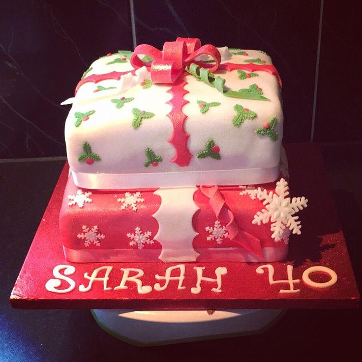 Xmas cake for a 40th ❄️⛄️