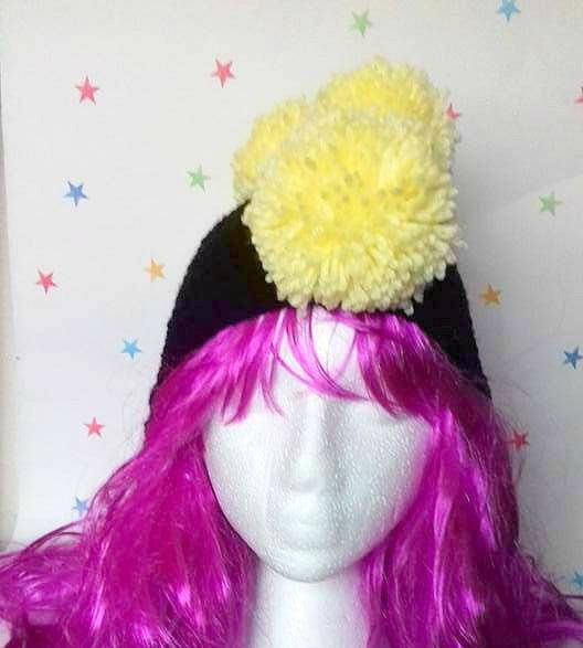 Mens Winter Hat Pom Pom Mohawk Ear-flap kids hat Festival Beanie Cosplay Costume Tribal Headdress Pomahawk Hat Faux Hawk Gag Gift by CraftyMillerJM
