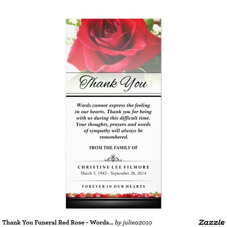 Best Memorial Thank You Cards Images On   Sympathy