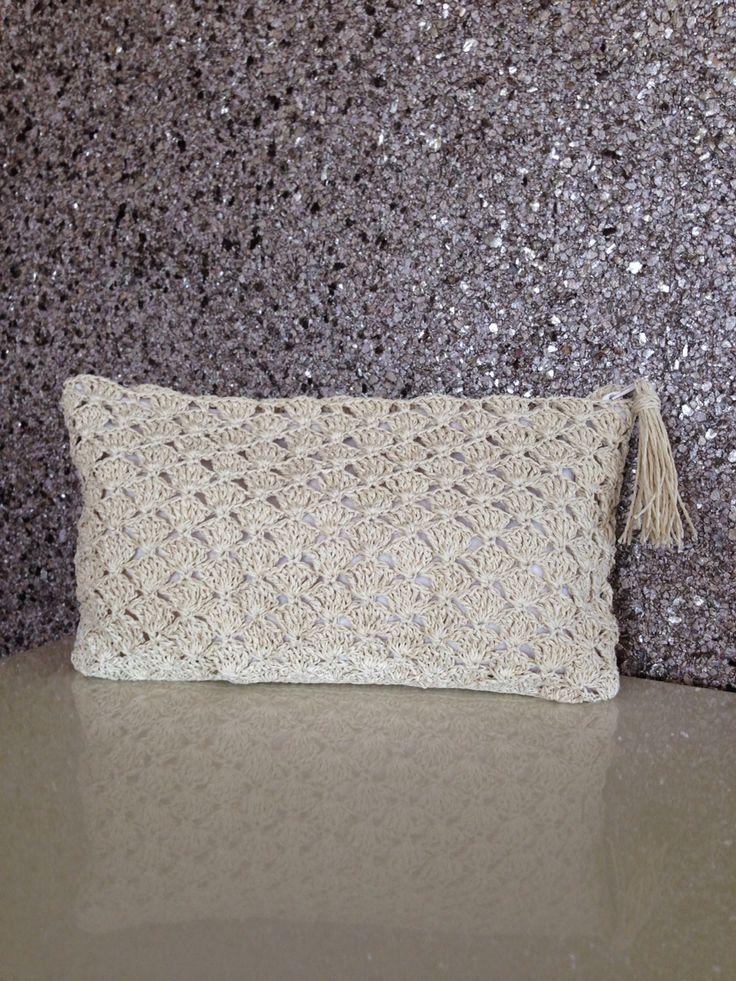 Crochet clutch kağıt ip bag
