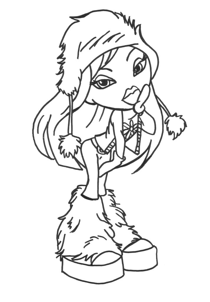 Cute Cloe Bratz Coloring Pages