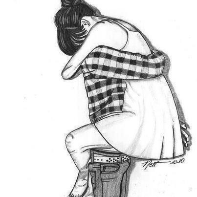 cool couple drawing: