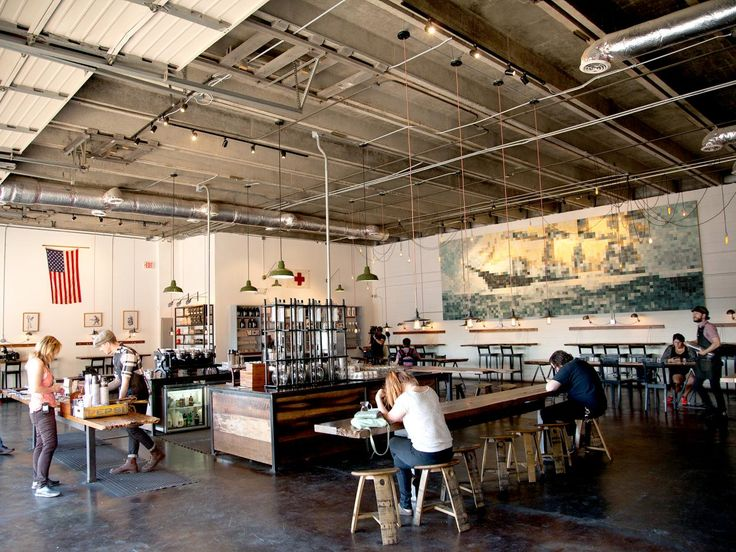 The Barista Parlor makes up for its stripped-down décor with its top-shelf coffee and teas.
