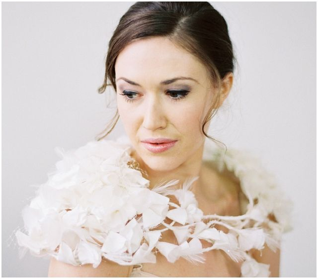 beautiful winter wedding shrugs and stoles
