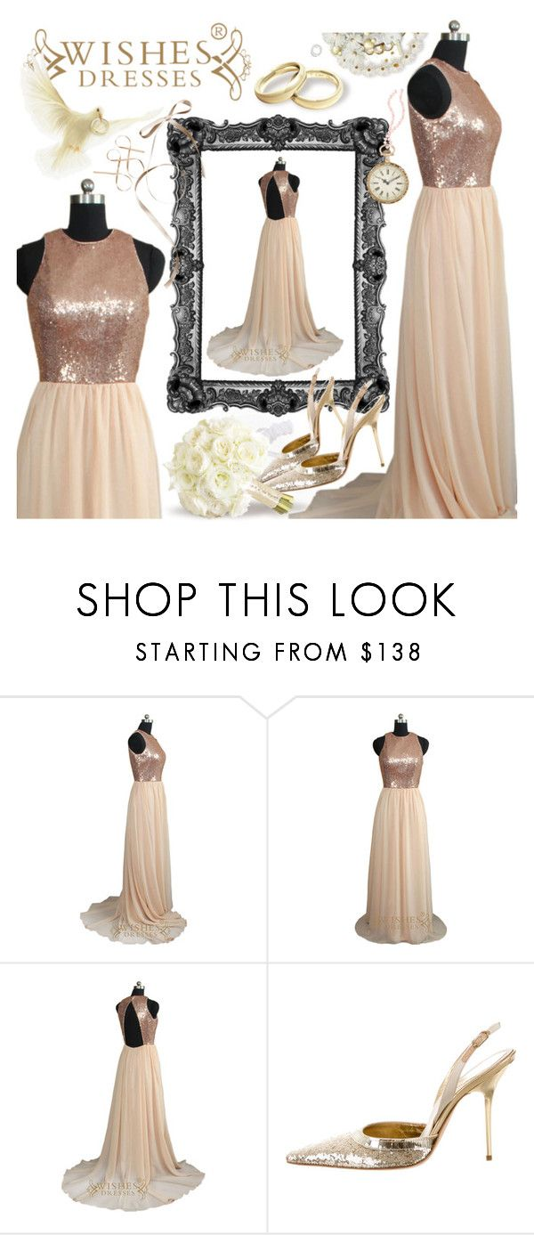 """Wishes Dresses"" by pastelneon ❤ liked on Polyvore featuring René Caovilla"