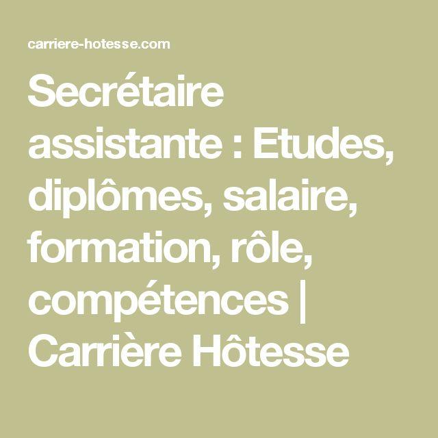 Secrétaire assistante :  Etudes, diplômes, salaire, formation, rôle, compétences | Carrière Hôtesse