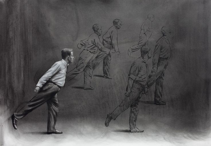 Mircea Suciu: Study for people moving to the right, 2012