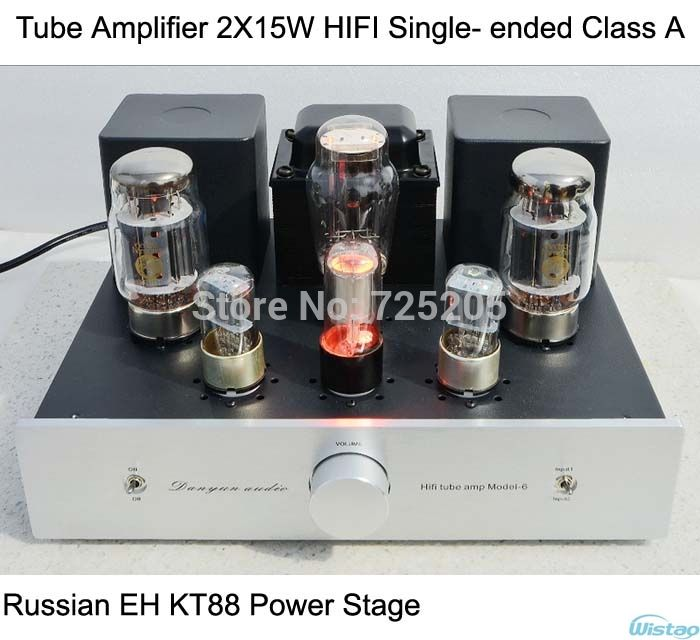 429.00$  Buy now - http://alioow.worldwells.pw/go.php?t=1973190344 - Tube Amplifier 2X15W Single-ended Class A  HIFI Audio 6N9P Preamp Russian EH KT88 Power Amp 5Z3P Rectifier Scaffolding Soldering