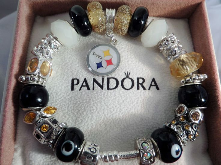 Pittsburgh Steelers Pandora Sterling Silver Bracelet | the Steelers Collection.   I NEED THIS IN MY LIFE.