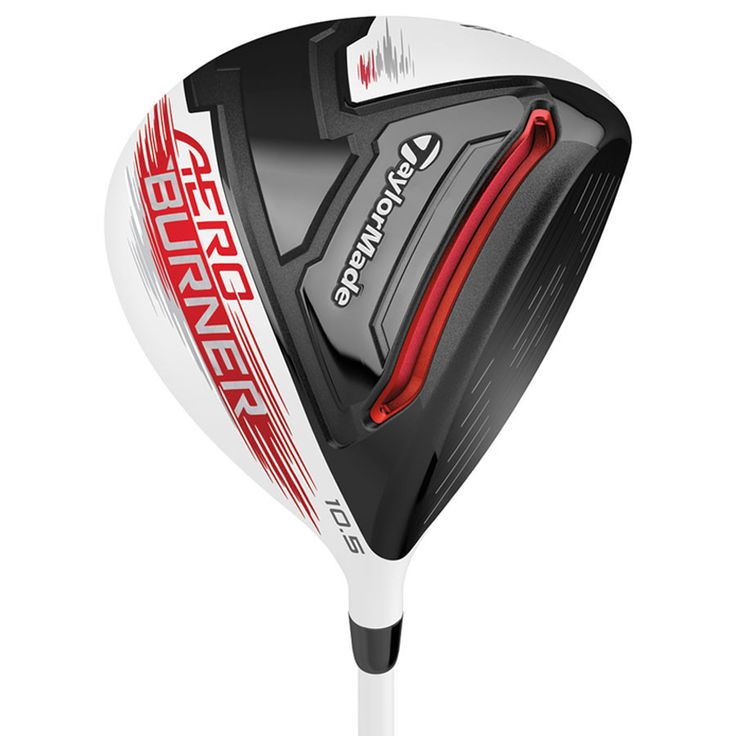 Taylormade Men's Aeroburner Driver - The TaylorMade AeroBurner Driver features an advanced 460cc aerodynamic shape that comes designed with a rounder toe, a raised center crown, reduced drop from crown to skirt, and a new hosel fin, all creating a reduction in drag for faster swing speeds.