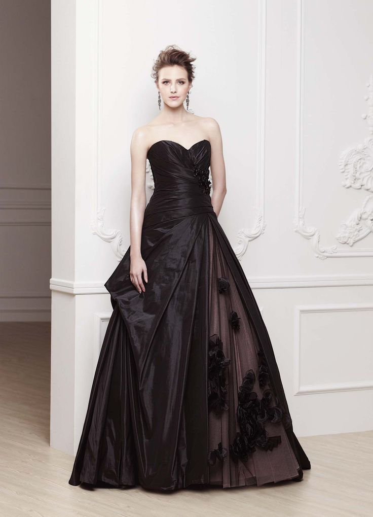 Sonar un vestido de novia negro