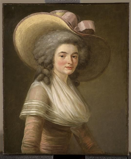 Portrait of Madame Anfrye, by Delaunay Pierre François, c. 1785.