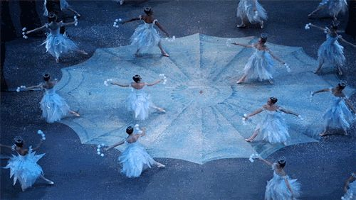 Pacific Northwest Ballet's Waltz of the Snowflakes in George Balanchine's The Nutcracker.