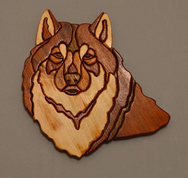 Wilk z drewna. w Hobo_Pila na DaWanda.com