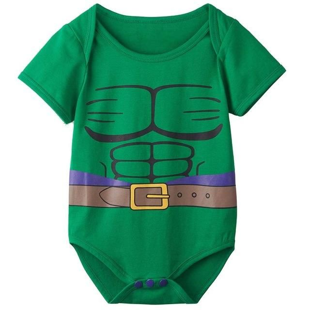 Baby Boys Marvel The Hulk All In One Babygrow Outfit//Fancy Dress Costume ~ 3-6m