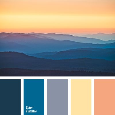 The combination of shades of dark blue and yellow colours in this palette looks noble and balanced thanks to the softness of the transitional tones. Playin.