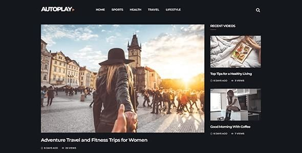 Autoplay Magazine Video Blog Wordpress Theme In 2020 Professional Wordpress Themes Blog Themes Wordpress Wordpress Theme