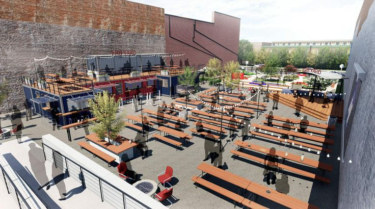 A new outdoor restaurant concept called FR8 Yard has taken another step toward becoming a reality in downtown Spartanburg. The city's Design Review
